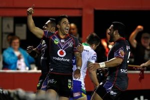 Shaun Johnson should be a potent nines weapon for the Warriors. Photo / Richard Robinson