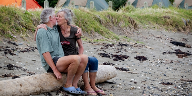 Len and Jenny Purser spend seven months of the year running a DoC camp at Port Jackson, on the Coromandel Peninsula. Phto / Christine Cornege