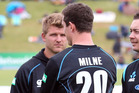 The hype surrounding Corey Anderson (left) and Adam Milne has ramped up hugely this month. Photo / Getty Images