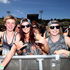 Festival goers enjoy the atmosphere during the performance of Tame Impala. Photo / Getty Images