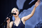 Alisa Xayalith of The Naked and Famous performs live at the 2014 Big Day Out. Photo / Getty Images
