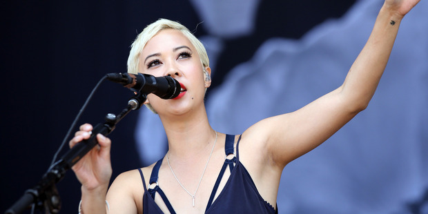 Loading Alisa Xayalith of The Naked and Famous performs live at the 2014 Big Day Out. Photo / Getty Images