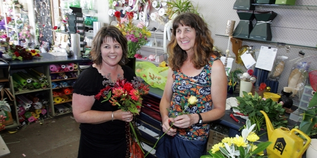 BUSY: Rhonda Claypole and Tanya Koens, of Flowers by Tanya, have been flat out filling orders for weddings during Hawke's Bay's peak season.
