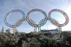 Sochi's Olympic rings. Photo / AP