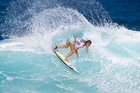 Despite her funding cut, Paige Hareb is geared for a big season on the ASP World Tour. Photo / AP