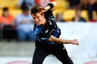 Adam Milne clocked 153km/h on the speedball radar against the West Indies. Photo / Getty Images