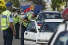 Expect to see plenty more of this - a warrant, registration and licence checkpoint being carried out in Napier South.