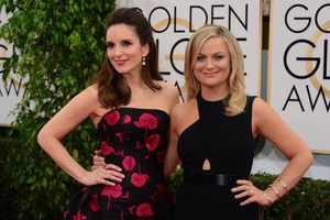 Tina Fey and Amy Poehler at the Golden Globes. Photo / AP