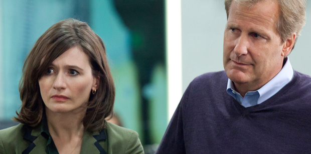 Jeff Daniels and Emily Mortimer in The Newsroom, which will end after three seasons.