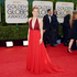Amy Adams in a racy red Valentino. Photo / AP