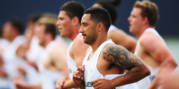 Benji Marshall has shown improvement in his condition after turning up to Blues pre-season training out of shape/Getty Images