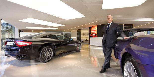 Neville Crichton at Maserati Auckland, which opened in October last year, sells Maserati and Lotus vehicles.