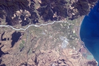 A photo of the Marlborough region taken from the International Space Station by Commander Chris Hadfield in April 2013. Photo / Supplied via twitter handle @Cmdr_Hadfield