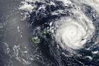 Tropical Cyclone Ian strikes Tonga. Photo / NASA