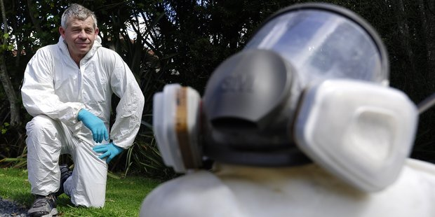 Tauranga pest control firm The Flyman owner Neal Courtman says the summer  season is a busy time for bug callouts, including cockroaches, flies and spiders. Photo/George Novak