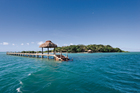 Fiji's beautiful Dolphin Island.