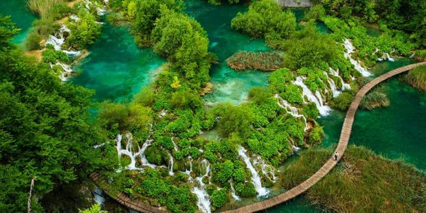 Plitvice Lakes National Park in Croatia features in 'Lonely Planet's Beautiful World'. Photo / Kelly Cheng Travel Photography (Getty Images)