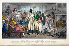 Tom and Jerry at a Coffee Shop near the Olympic by I.R. and G. Cruickshank, 1823. Photo / British Library