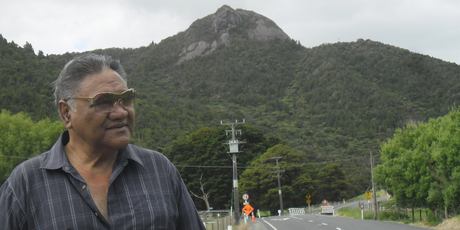 Russell Kemp has never climbed the Baldrock, north of Kaiwaka, which is sacred to his people. Photo / Paul Charman
