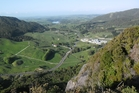 A view from the top of Baldrock, looking south past Pukekaroro towards Wellsford. Photo / Paul Charman