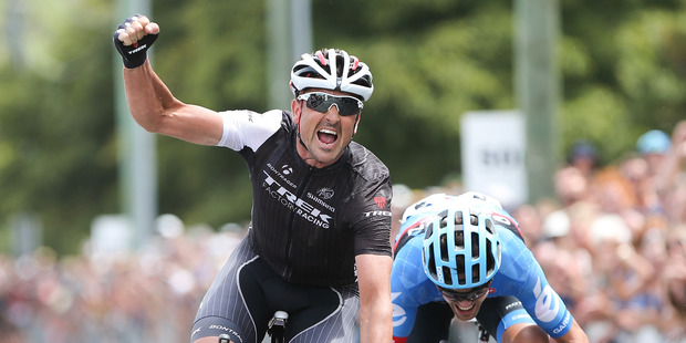 Hayden Roulston claimed his fourth national road cycling championship victory today. Photo / Getty Images.