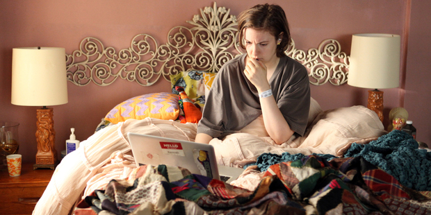 Lena Dunham in 'Girls' which was nominated for a Golden Globe for best comedy series. Photo / AP