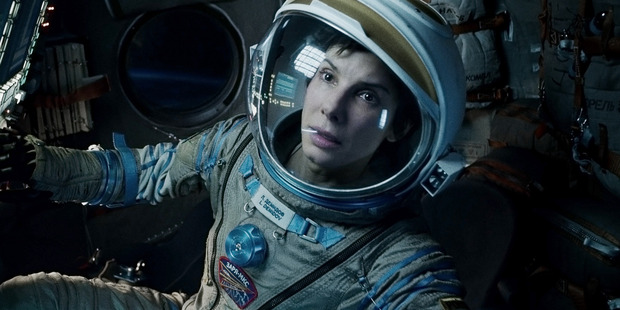 Sandra Bullock in a scene from 'Gravity'.