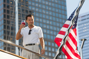 Leonardo DiCaprio as Jordan Belfort in a scene from The Wolf of Wall Street. Photo / AP