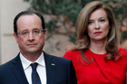 French President Francois Hollande, left, and his companion Valerie Trierweiler arrive for a state dinner at the Elysee Palace in Paris. Photo / AP