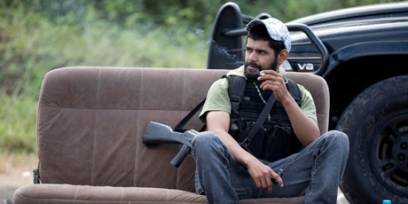A man belonging to the Self-Defense Council of Michacan. Photo / AP