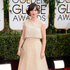 Zooey Deschanel arrives at the 71st annual Golden Globe Awards. Photo / AP