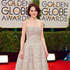 Michelle Dockery arrives at the 71st annual Golden Globe Awards. Photo / AP