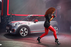 Natalie La Rose sings during as the Mini John Cooper Works concept is unveiled during media previews during the North American International Auto Show in Detroit. Photo / AP