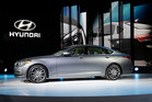 The Hyundai Genesis is unveiled at the North American International Auto Show in Detroit. Photo / AP