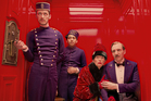 Paul Schlase, Tony Revelori, Tilda Swinton and Ralph Fiennes in The Grand Budapest Hotel. Photo / AP