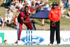 West Indies bowler Jason Holder in action during the recent one-day series against the Black Caps. Photo / Christine Cornege