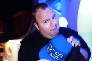 Kim Dotcom at his album release party at the Dotcom mansion last month. Photo / Norrie Montgomery.