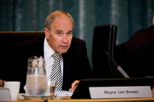 Auckland City Mayor Len Brown. Photo / Dean Purcell