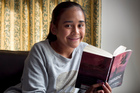 Jane Charlton, 11, is enthralled by Veronica Roth's Divergent series, dubbed the next Hunger Games. Photo / Natalie Slade