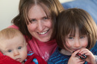 Rotorua Parents Centre president Jo McQueen-Watton with her children Oliver, 3 months, left, and Isobel, 3. Photo / Ben Fraser