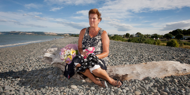 Kay Hamilton's puppy was fatally hit by a speeding quad bike on the beach last Thursday and has laid a complaint to Police.