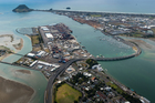 Aerial view of the Tauranga industrial area.