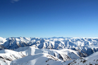 View of the Southern Alps from Mount Hutt ski field in Canterbury. Photo / Doug Sherring