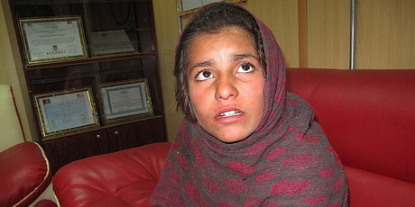 Spozhmai, 10, is pleading for a new home away from the family she claims treated her like a slave. Photo / AFP