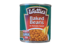 Wattie's Baked Beans in Tomato Sauce contains 4.2 teaspoons of sugar per serve.