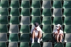 Melbourne tennis fans are among those feeling the heat. Photo / AP