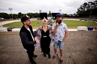 Kiwi musicians, from left, P-Money, Alisa Xayalith and Rodney Fisher at Western Springs, the location for this year's Big Day Out. Photo / Dean Purcell
