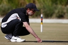 Paddy Chapman lines up a shot for New Zealand v England at Mount Maunganui yesterday. Photo/George Novak