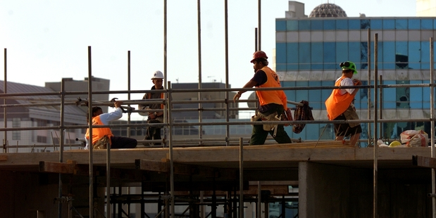 Construction workers could be among those to see a pay rise this year. Photo / Derek Flynn
