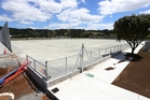 The Currie Electrical Turf is nearing completion on Kensington Park, but, for now, progression has halted as Hockey Northland waits for more light poles to turn up. Photo/Michael Cunningham